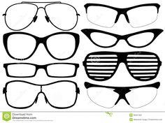 Glasses Shadow Clip Art | Sunglasses Silhouette Clip Art glasses silhouette stock photography ...