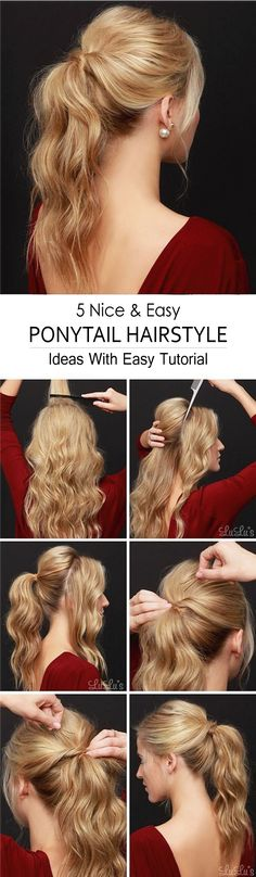 Wanting to show off your backless holiday dress, or maybe you need to spruce up that second-day hair? Give our Party Perfect Ponytail Hair Tutorial a go! tutorial, Lulus How-To: Party Perfect Ponytail Hair Tutorial Ponytail Hairstyles, Pretty Hairstyles, Wedding Hairstyles, Simple Hairstyles, Hair Ponytail, Updos, Amazing Hairstyles, Voluminous Ponytail, Latest Hairstyles