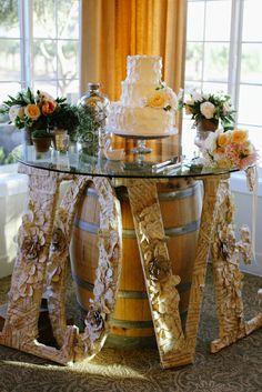 Ponte Winery Wedding | Beautiful cake table with handmade LOVE sign | Lisa Moon Events | Temecula, CA | Jim Kennedy Photographers
