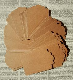 50 KRAFT TAGS  Lot of bulk kraft cardstock tags  by PaperPastiche, $4.95