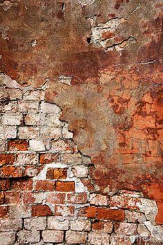 stucco and brick wall