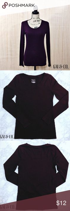 Merona Long Sleeve T-Shirt 🌺Merona Long Sleeve T-Shirt. The Ultimate Tee from Merona. EUC. Awesome maroon color. Super soft 100% cotton. Size: Small   Thank you for stopping by my closet. Please let me know if you have any questions.  GM Merona Tops Tees - Long Sleeve