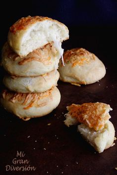 Mi Gran Diversión: Bollitos rellenos de queso con toque de ajo