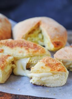 Imeruli Khachapuri focacce georgiane al formaggio vickyart arte in cucina