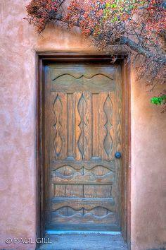 Wood Door - Santa Fe, New Mexico·