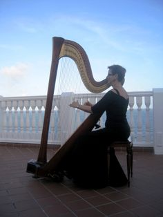What a view from the balcony at Pelican Grand! So lovely for a wedding with harpist Esther Underhay