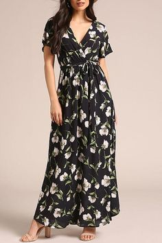 SPECIFICATIONS: Product Name Floral Print Short Sleeve Vacation Maxi Dress Brand Dreamlipshop SKU Gender Women Style Elegant/Sexy/Fashion Type Maxi Dress Occasion Party/Vacation/Daily Life Material Polyester fiber Season Summer Decoration Floral Print Floral Maxi Dress, Boho Dress, Maternity Dress Outfits, Cheap Maxi Dresses, Maxi Skirts, Types Of Fashion Styles, Fashion Dresses, Vacation, Sleeve