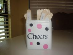 Cheer Sticks so we dont do the same cheers over and over