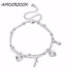 AMOURJOUX Fashion Heart Gel Charm Silver Plated Anklets For Women Ankle Bracelet On The Leg Anklet Silver Foot Jewelry Female     Tag a friend who would love this!     FREE Shipping Worldwide     Get it here ---> http://jewelry-steals.com/products/amourjoux-fashion-heart-gel-charm-silver-plated-anklets-for-women-ankle-bracelet-on-the-leg-anklet-silver-foot-jewelry-female/    #earrings