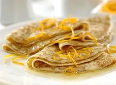 Crepe Suzette made with Marcel's Double Love Sweet Crepes Breakfast Recipes, Dinner Recipes, Dessert Recipes, Desserts, Crepe Recipes, Crepes, Gluten Free, Recipe Ideas, Ethnic Recipes