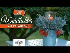 DIY: tolle Herbst-Windlichter mit Pflanzen schnell & einfach [How to] Deko Kitchen - YouTube