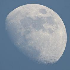 Evening Blue Sky Moon Worcestershire, UK