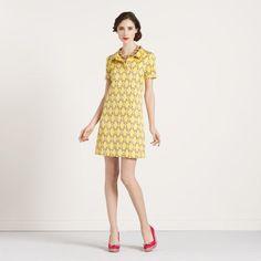 27d975d3959 Kate Spade s nod to mod sunshine dress.