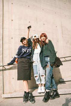 Miss Rich: Seoul Fashion Week 2016 Street Style Seoul Fashion, Korea Fashion, Japan Fashion, Pop Fashion, Girl Fashion, Fashion Outfits, Style Fashion, Fashion Trends, Asian Street Style