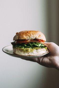 a classic blt sandwich made #vegan