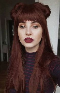 Black Cherry Red Hair, Dark Red Hair With Brown, Black Wig, Red Black, Reddish Brown, Long Black, Dark Brown, Hair Color Shades, Hair Color For Black Hair