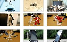 Rienar Universal MultiFunction Portable Spider Flexible Grip Holder for Smartphones and Tablets *** You can find out more details at the link of the image. (This is an affiliate link) Car Gadgets, Electronics Gadgets, Outdoor Gadgets, Flexibility, Spider, Smartphone, Image Link, Camping, Note