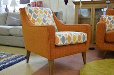 Living : LISBON Accent Armchair in BRIGHT ORANGE