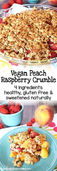 Vegan Peach Raspberry Crumble