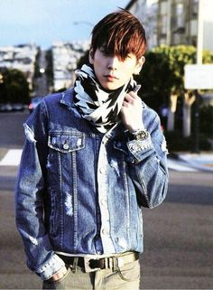 B.A.P Himchan (from Himchan's Twitter) // DANG this boy is good looking! XD