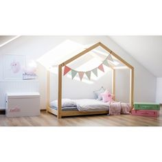 Zdjęcie produktu Łóżko domek Miles 10X - 21 rozmiarów. Bedroom Bed, Girls Bedroom, Bedroom Decor, Wood Nursery, Nursery Bedding, Scandinavian Kids Rooms, Wooden Bed Frames, Teepee Kids, Kids Room Design