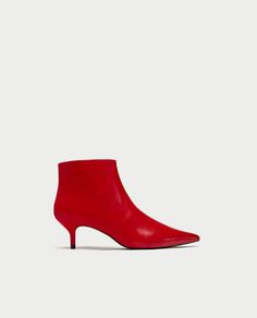 RED MID-HEEL ANKLE BOOTS-Boots and Ankle Boots-SHOES-WOMAN | ZARA United States