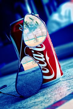 Cool as a #red can of Coke on a #blue summer day. Loving the #silver shades