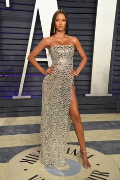 From Kendall Jenner's barely-there gown, to Taylor Hill's unexpected suit, here's what all the models wore to the 2019 Vanity Fair Oscars after party.