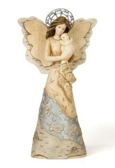 Our Elements Mother's Love Angel With Baby is a lovely mother angel holding a baby.  This angel figurine offers a gentle and comforting reminder of the special bond between parents and babies.  She is also a heartfelt gift for parents who have suffered the loss of their infant child.  Click the link to the Kindred Spirits Gift Shop, LLC and order your beautiful mother with baby angel figurine today.  $21.45