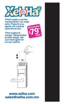 Xel Ha | Tarjeta para llave electrónica. 4 tintas reverso + banda magnética