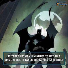 Batman will beat them there!