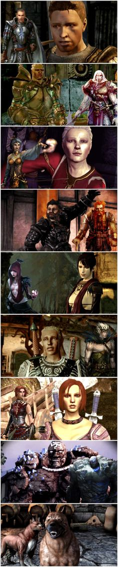 Dragon Age: Origins - companions and their concept art. --wow I wish they had followed this a little more, I love how zevran looks