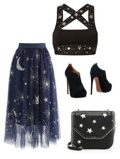 """""""Untitled #197"""" by susannhaabeth on Polyvore featuring Chicwish, Ultracor, Alaïa and STELLA McCARTNEY"""