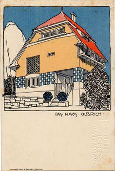 Olbrich haus by Josef Maria Olbrich