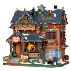 Lemax Collectibles   Lemax Vail Village Lighted Building Pine Grove Lodge #25338 - American Sale
