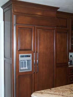 Custom Panel Refrigerator | Refrigerator Panels Were Designed For This  Custom Kitchen In Southern .