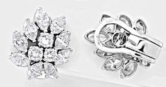 Einmalige Diamantohrringe 5,73ct Handarbeit Schmuck Neu - Gold, Platin Schmuck…