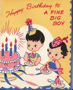 Vintage Childs Birthday Card