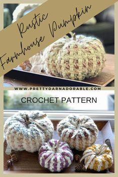 Crochet Pumpkin Pattern, Crochet Leaf Patterns, Crochet Cowl Free Pattern, Halloween Crochet Patterns, Crochet Leaves, Crochet Flowers, Crochet Fall Decor, Crochet Decoration, Holiday Crochet