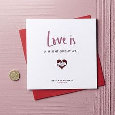 Personalised Love Is Valentine's Scratch Card - Find unique, thoughtful gifts this Valentine's Day.
