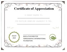 Appreciate The Leadership Of A Person By Giving A Certificate. And You Can  Make It Easily By Using My Free Leadership Certificate Of Appreciation  Template.  Free Appreciation Certificate Templates
