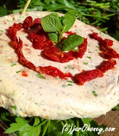 sun dried tomato basil nut cheese raw vegan