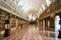 On a trip to Portugal found this incredible library. It's at the Mafra National Palace.
