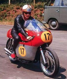 Mike Hailwood in the TT.
