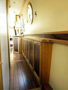 #narrowboat Barge Interior, Best Interior, Canal Boat Interior, Narrowboat Interiors, Boat Bed, Boat Storage, Cool Boats, Floating House, Boat Stuff