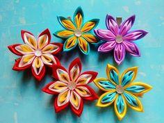 Мастер класс канзаши / Канзаши для начинающих/Цветок из атласной ленты - YouTube