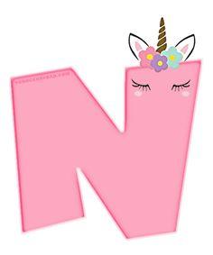 Alfabeto de Unicornios Letras para Descargar Gratis   Todo Candy Bar Colorful Birthday Party, Unicorn Themed Birthday Party, 8th Birthday, Unicorn Party, Birthday Party Themes, Fiesta Little Pony, Little Pony Party, Unicorn Mask, Unicorn Printables