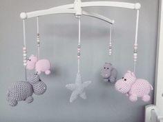 10 Cute Hippo Amigurumi Crochet Patterns Free and Paid - sitricken kuscheltiere Crochet Hippo, Crochet Baby Mobiles, Crochet Elephant, Crochet Toys, Crochet Animal Patterns, Stuffed Animal Patterns, Baby Knitting Patterns, Amigurumi Patterns, Baby Favors