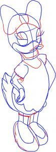 how to draw daisy duck step 3