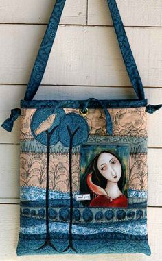 Beautiful art quilt bag.